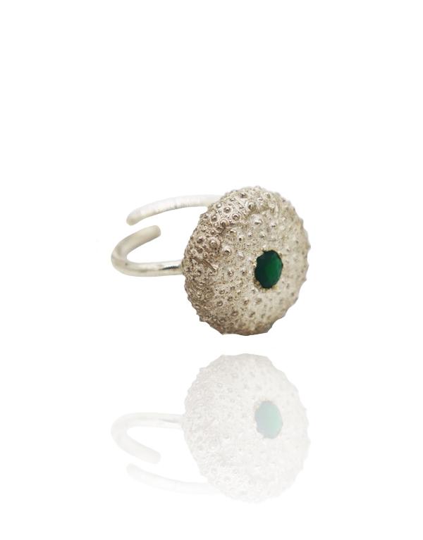 anel-ouriço-pedra-verde-2